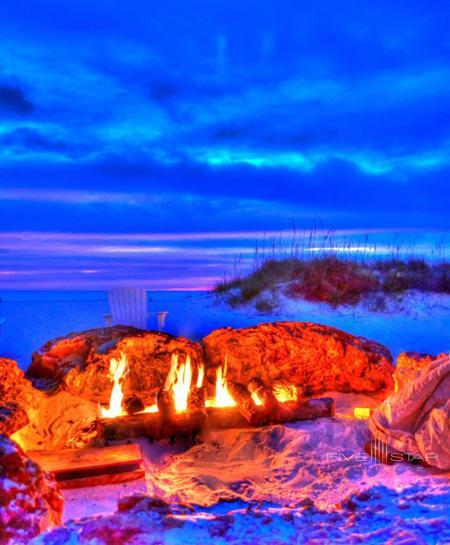 Sandpearl Resort has a beach-side fire pit.