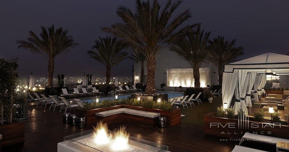 Rooftop pool of the London West Hollywood in Los Angeles, Ca