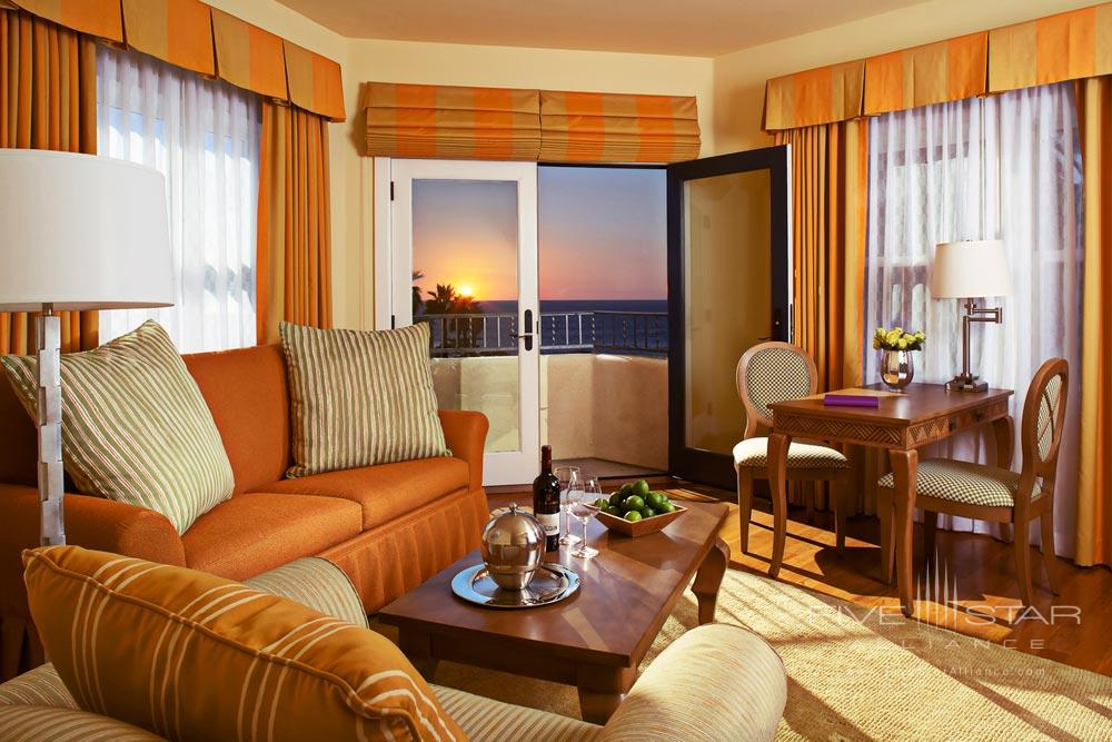 Ocean view one bedroom suite complete with kitchen and living room at Grande Colonial Hotel La JollaCA