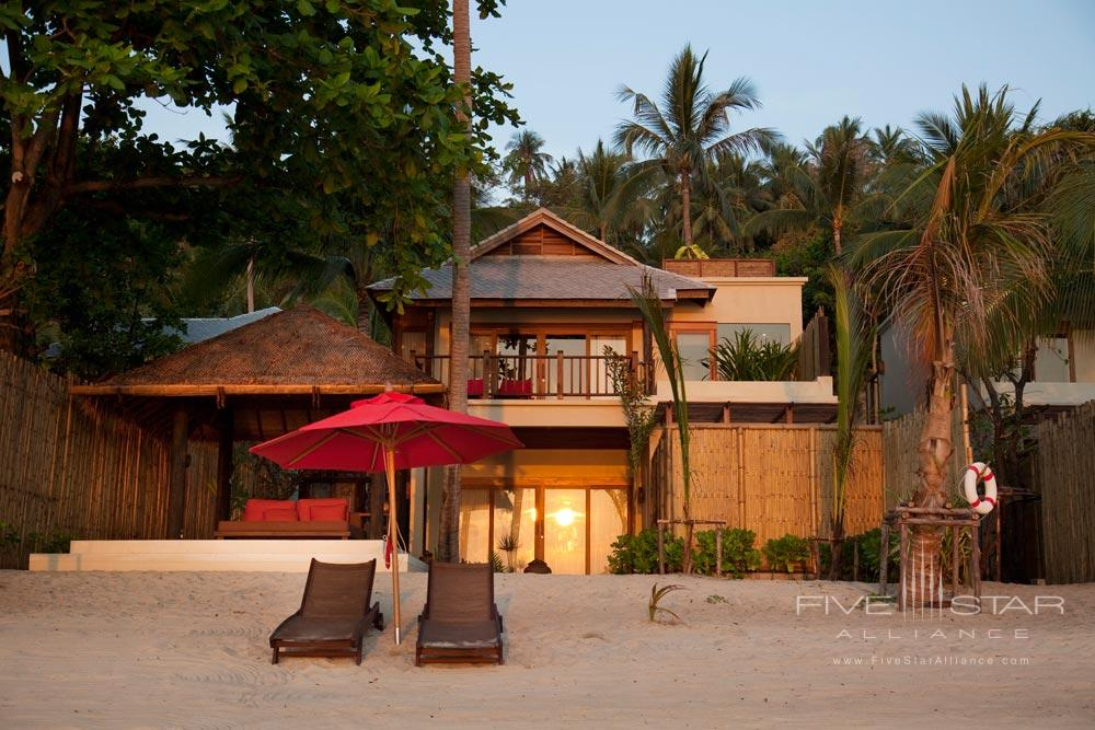 Beach Side Accommodations at Anantara Rasananda Koh Phangan Villa Resort and Spa