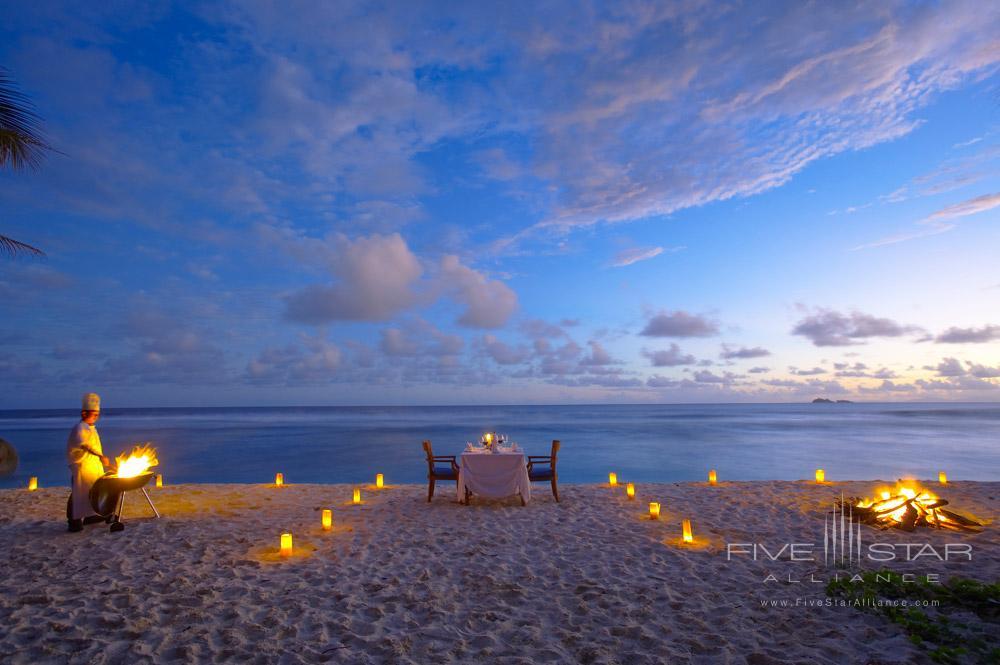 Romantic Beach Dining at Fregate Island Private Seychelles Fregate IslandSeychelles