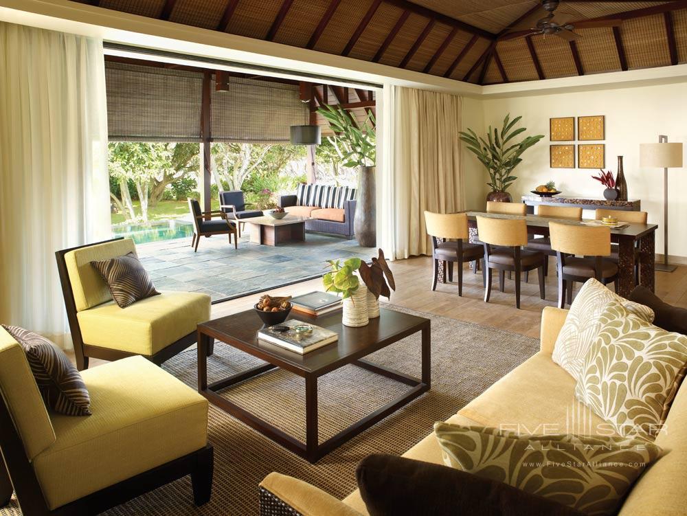Villa Living Room at Four Seasons Resort Mauritius at Anahita