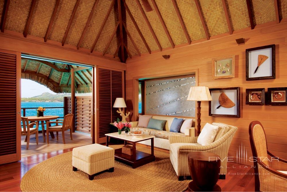 Suite living room atFour Seasons Resort Bora BoraFrench Polynesia