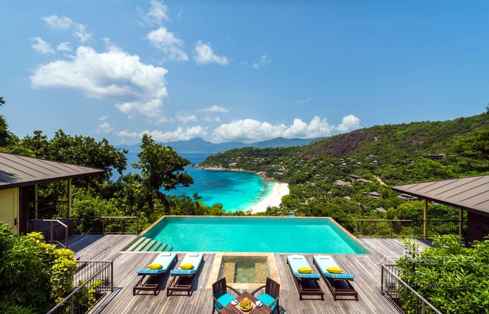 Pool view of Four Seasons Resort Seychelles