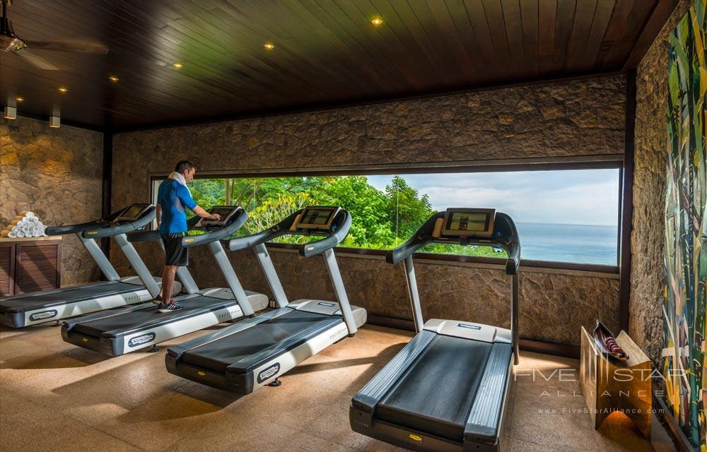 Fitness center at Four Seasons Resort Seychelles