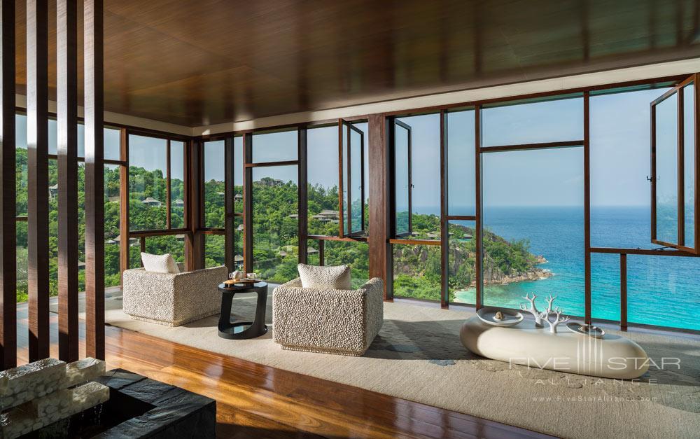 Lounge at Four Seasons Resort Seychelles