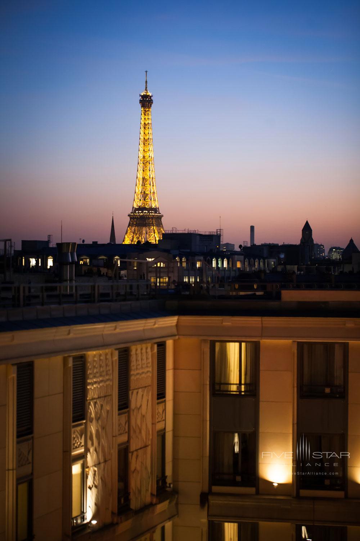 View from The Hotel du Collectionneur Arc de Triomphe ParisFrance