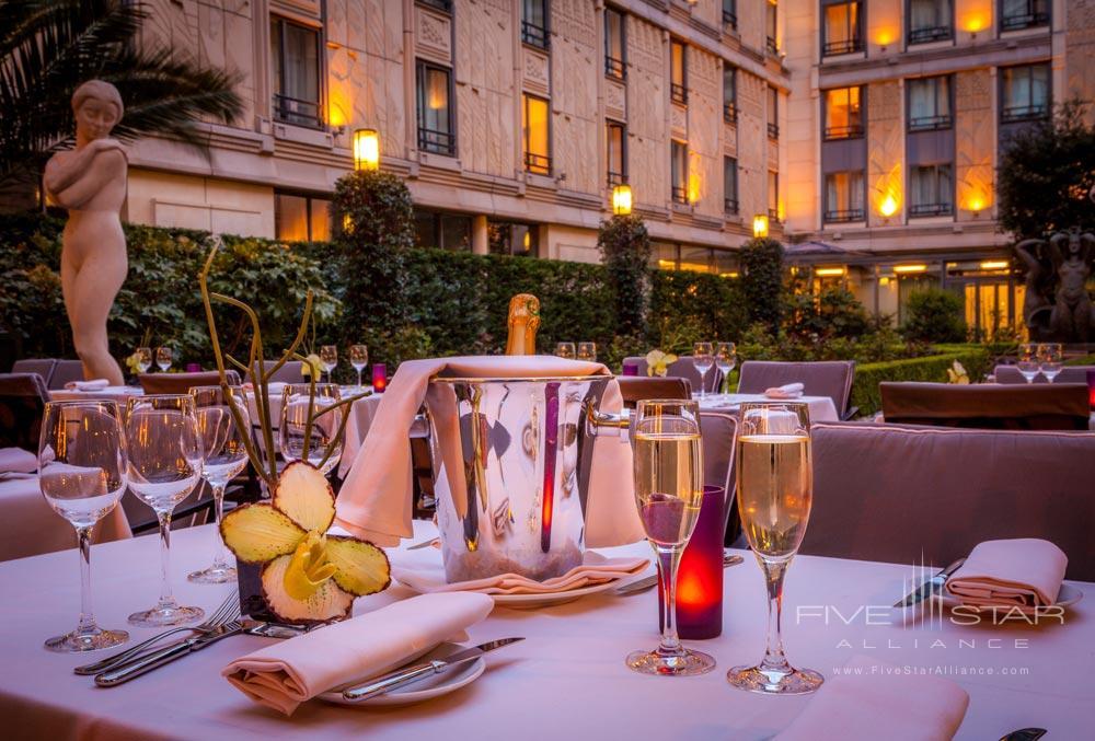 Dining at The Hotel du Collectionneur Arc de Triomphe ParisFrance