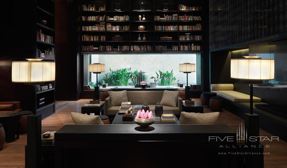 Library and Lounge at The PuLi Hotel and Spa, Shanghai, China