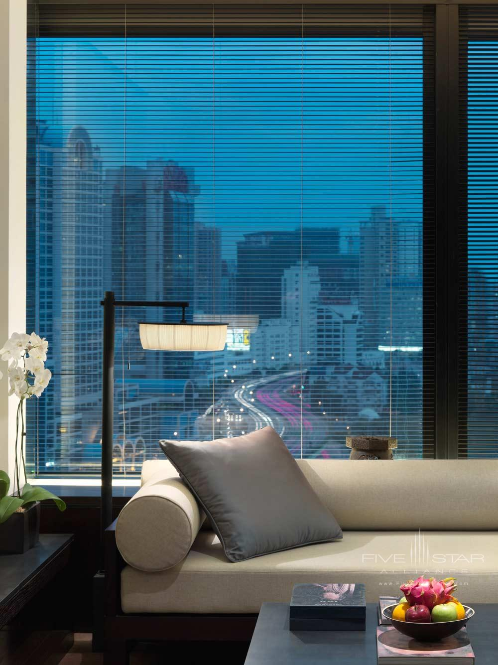 Deluxe Suite Living Room at The PuLi Hotel and Spa, Shanghai, China