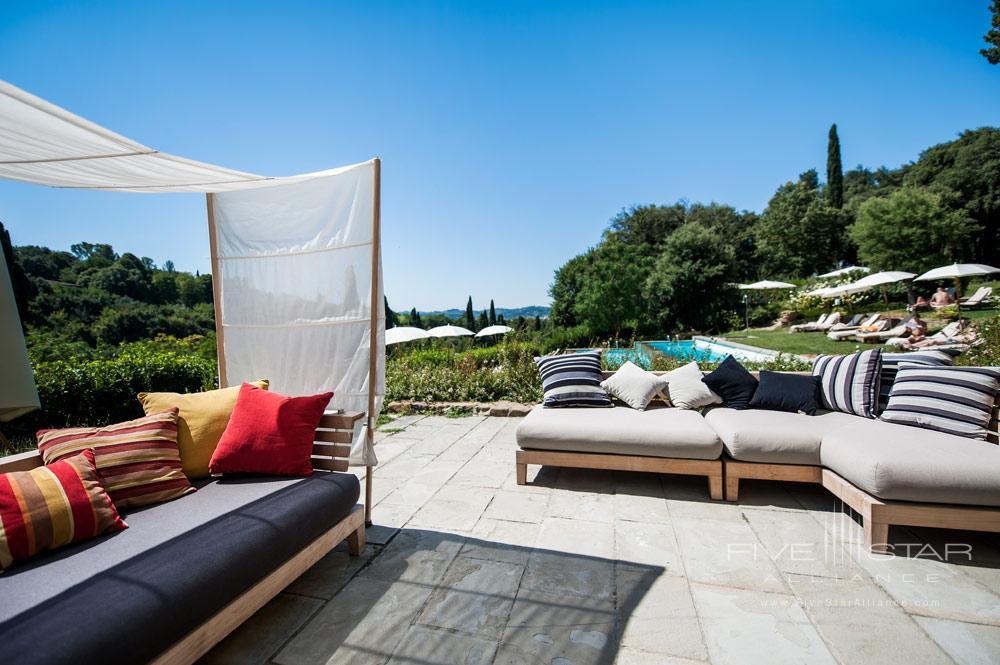 La Piscina Pool Lounge Area at Hotel ll Salviatino FlorenceItaly