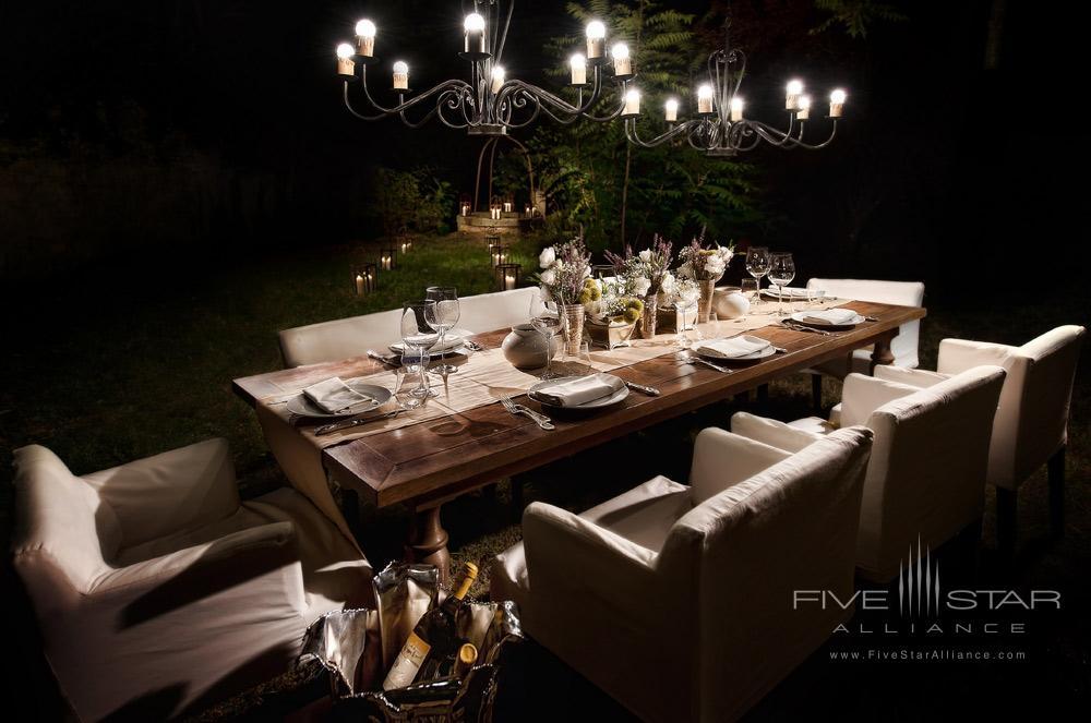 Garden Dining at Hotel ll Salviatino FlorenceItaly