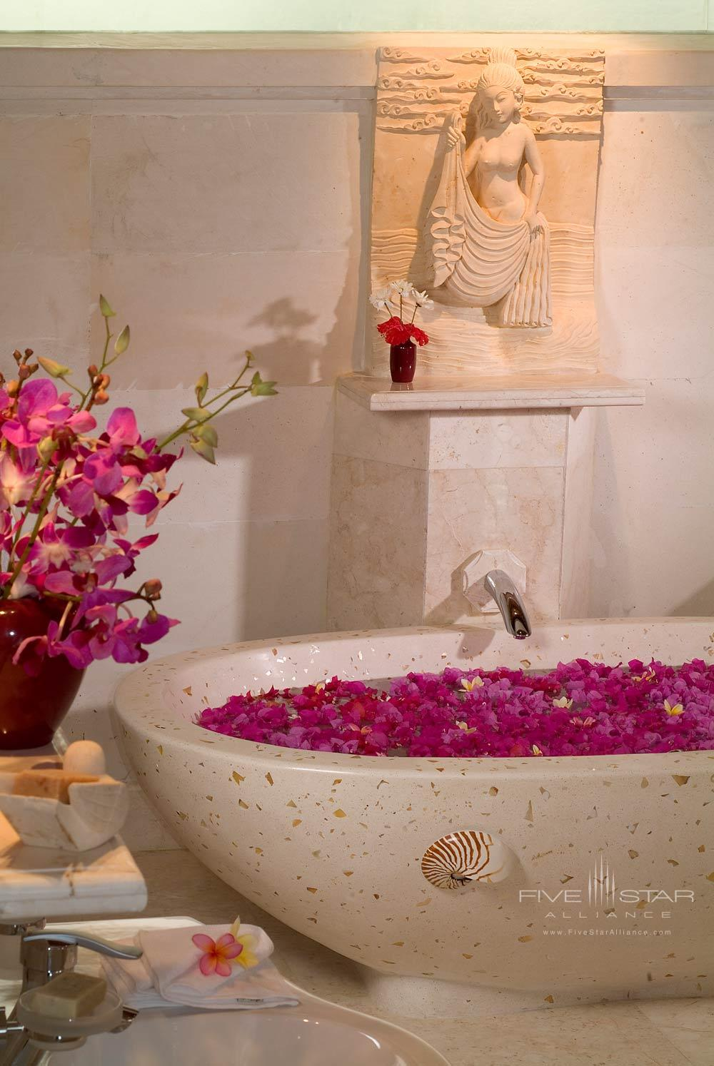 Stay in the Terrace Villa and take delight in a luxurious flower bathViceroy Bali