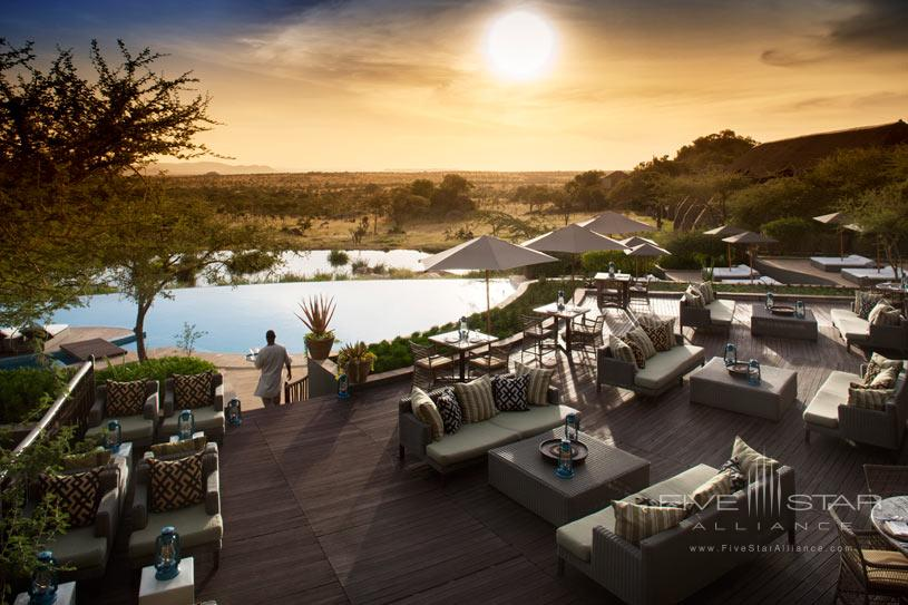 Pool area at The Four Seasons Serengeti