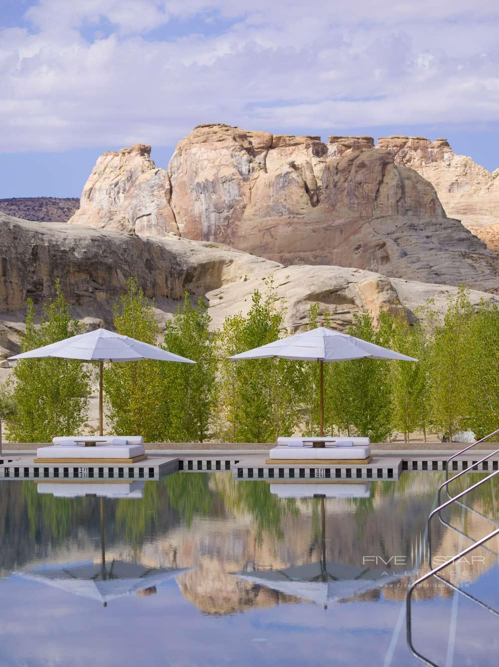 Poolside at Amangiri in Canyon PointSouthern Utah courtesy of Amanresorts