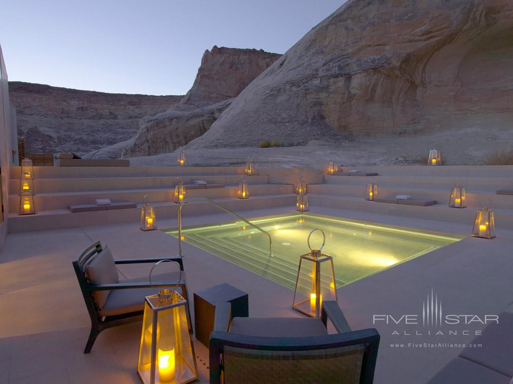 Aman Spa Step Pool at Dusk at Amangiri in Canyon PointSouthern Utah courtesy of Amanresorts
