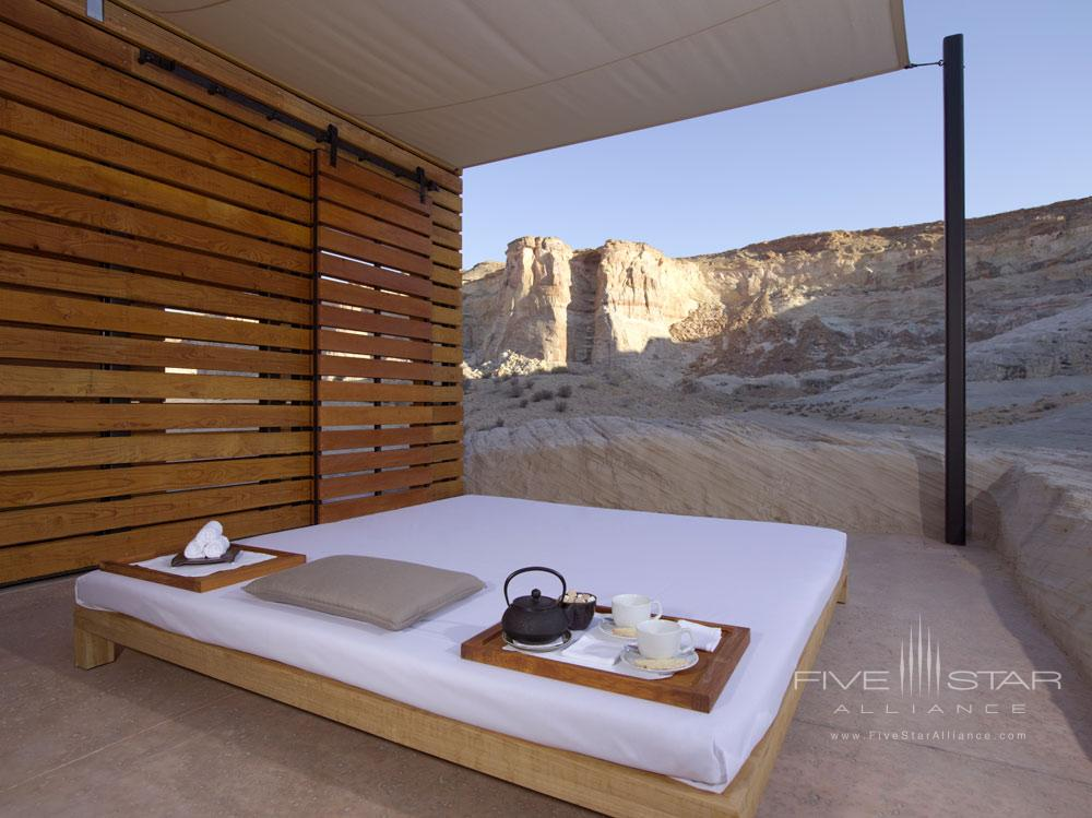 Aman Spa Thai Massage Pavilion at Amangiri in Canyon PointSouthern Utah courtesy of Amanresorts
