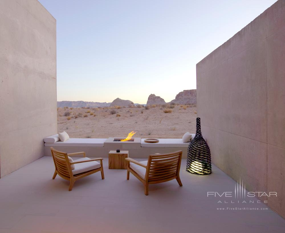 Amangiri Suite Desert Lounge at Amangiri in Canyon PointSouthern Utah courtesy of Amanresorts