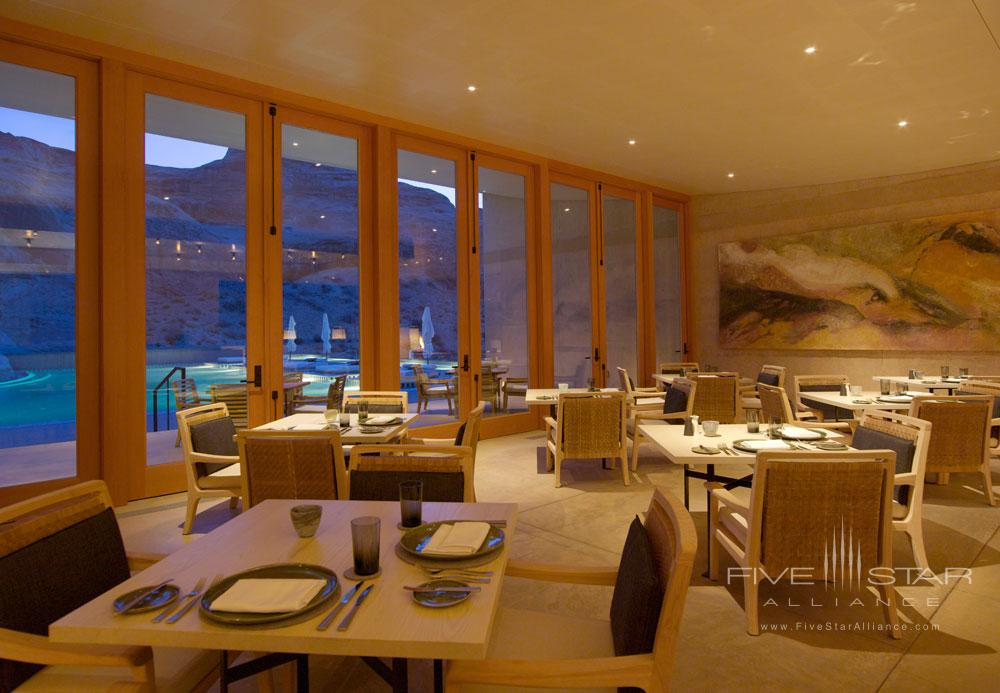 Dining Room at Amangiri in Canyon PointSouthern Utah courtesy of Amanresorts