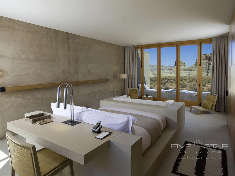 Mesa View Suite Bedroom at Amangiri