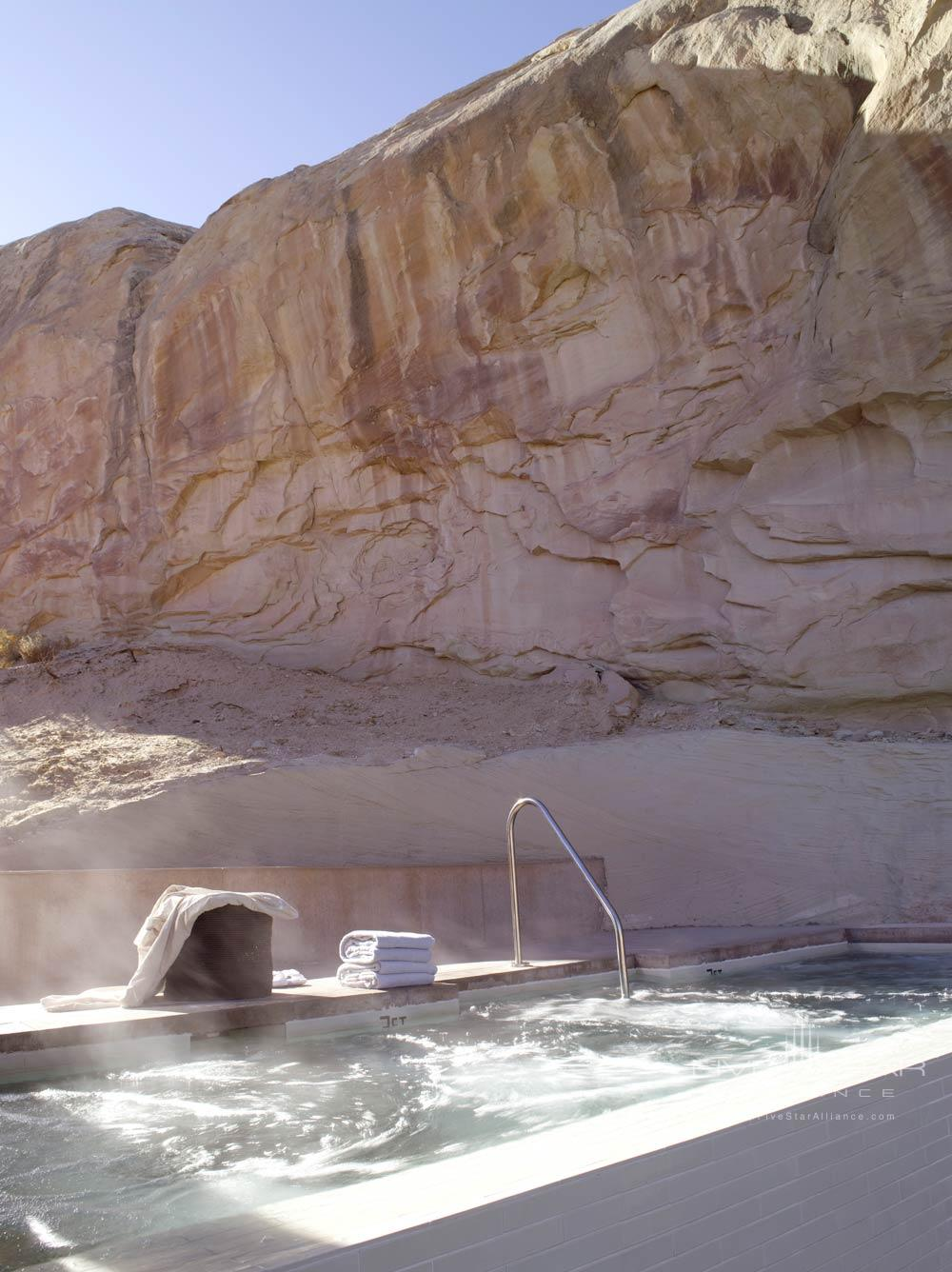 Main Swimming Pool Jacuzzi at Amangiri in Canyon PointSouthern Utah courtesy of Amanresorts