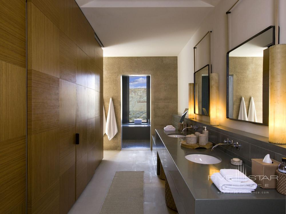 Mesa View Suite Bathroom at Amangiri in Canyon PointSouthern Utah courtesy of Amanresorts