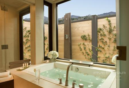 Bathtub with a view at Bardessono in Yountville, Napa Valley