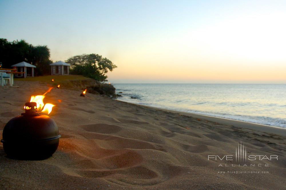 Beach at Sunset at Montpelier Plantation Inn West IndiesSt. Kitts and Nevis