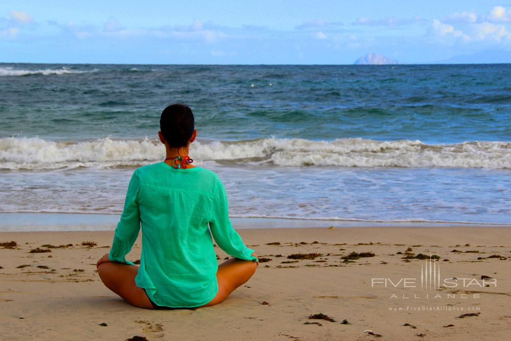Peaceful Yoga by the Beach at Montpelier Plantation Inn West IndiesSt. Kitts and Nevis