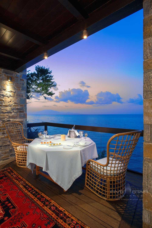 Terrace with Sea View at Porto Zante Villas and Spa ZakynthosGreece