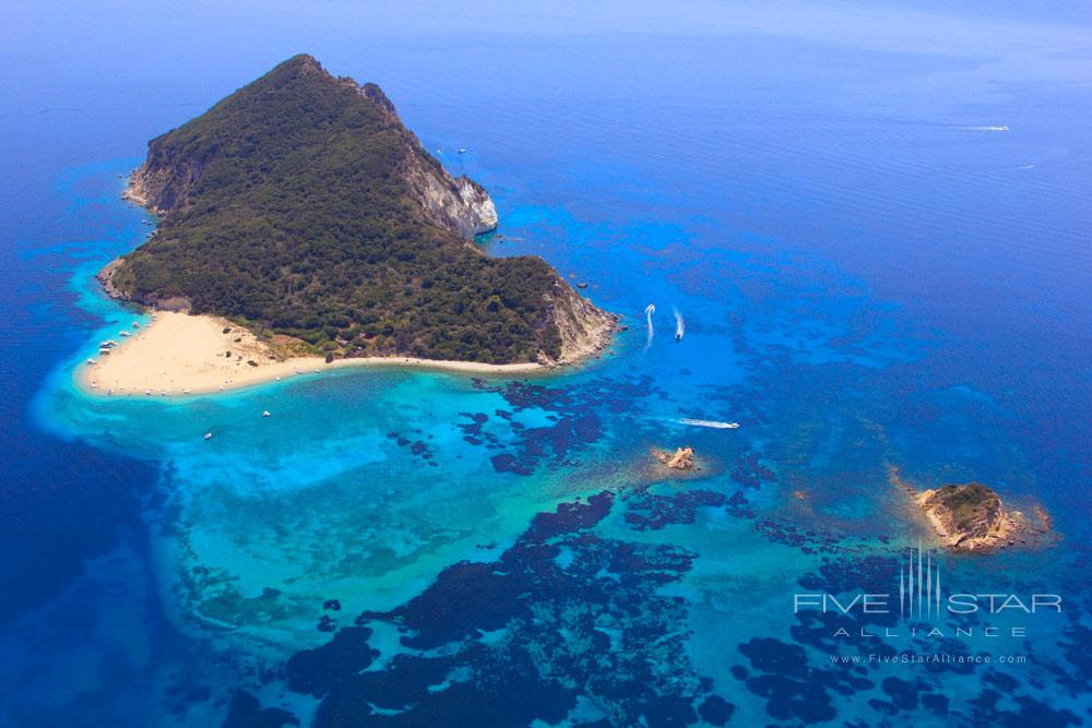 Aerial Island View at Porto Zante Villas and Spa ZakynthosGreece