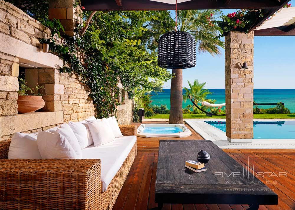 Private Pool Lounge Area at Porto Zante Villas and Spa ZakynthosGreece