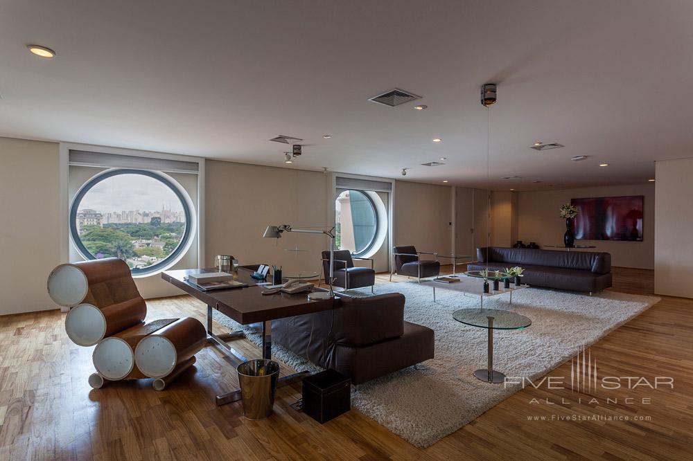 Presidential Suite Living Area at Hotel Unique Sao PauloBrazil