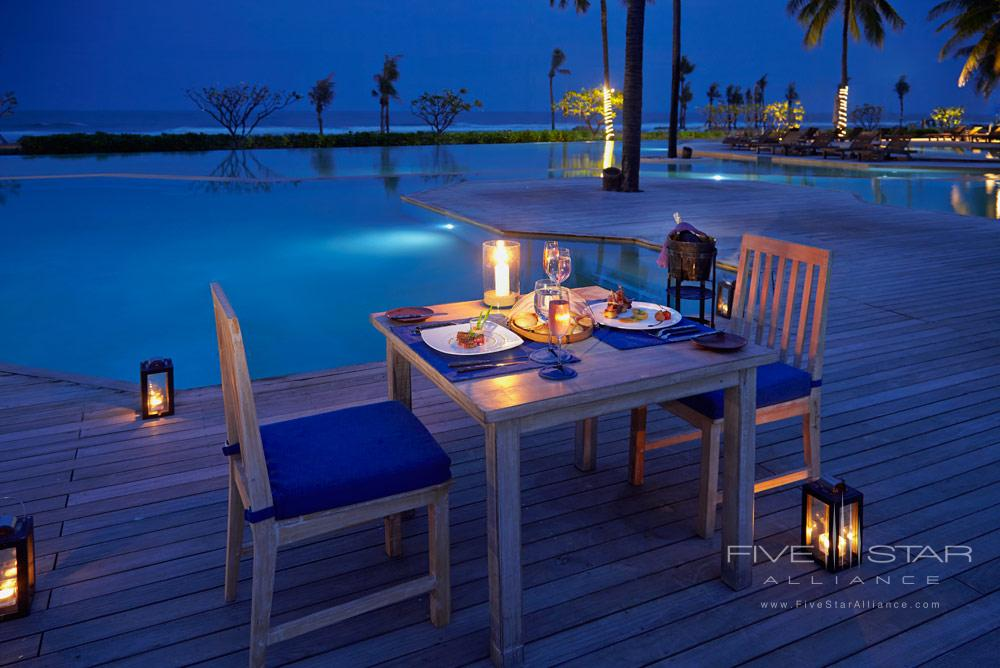 Private romantic dinner at Evason Hua HinKhirikhanThailand