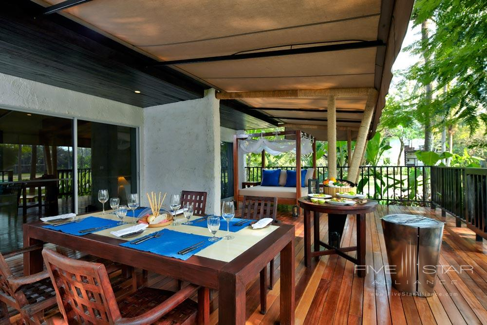 Suite terrace with barbeque at Evason Hua HinKhirikhanThailand