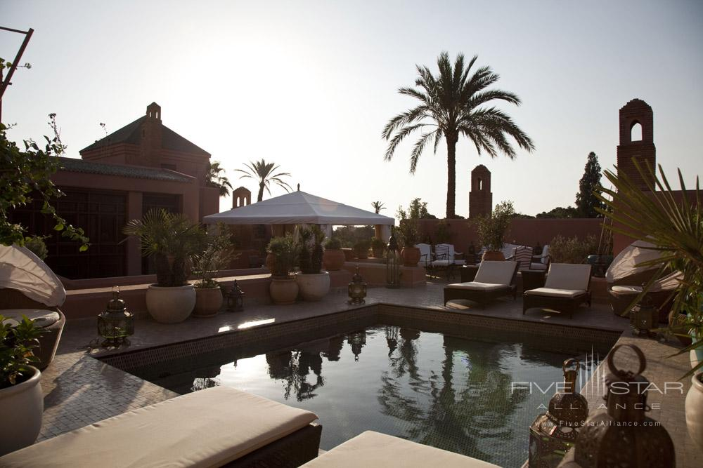 Pool and Lounge at Royal Mansour Marrakech, Morocco