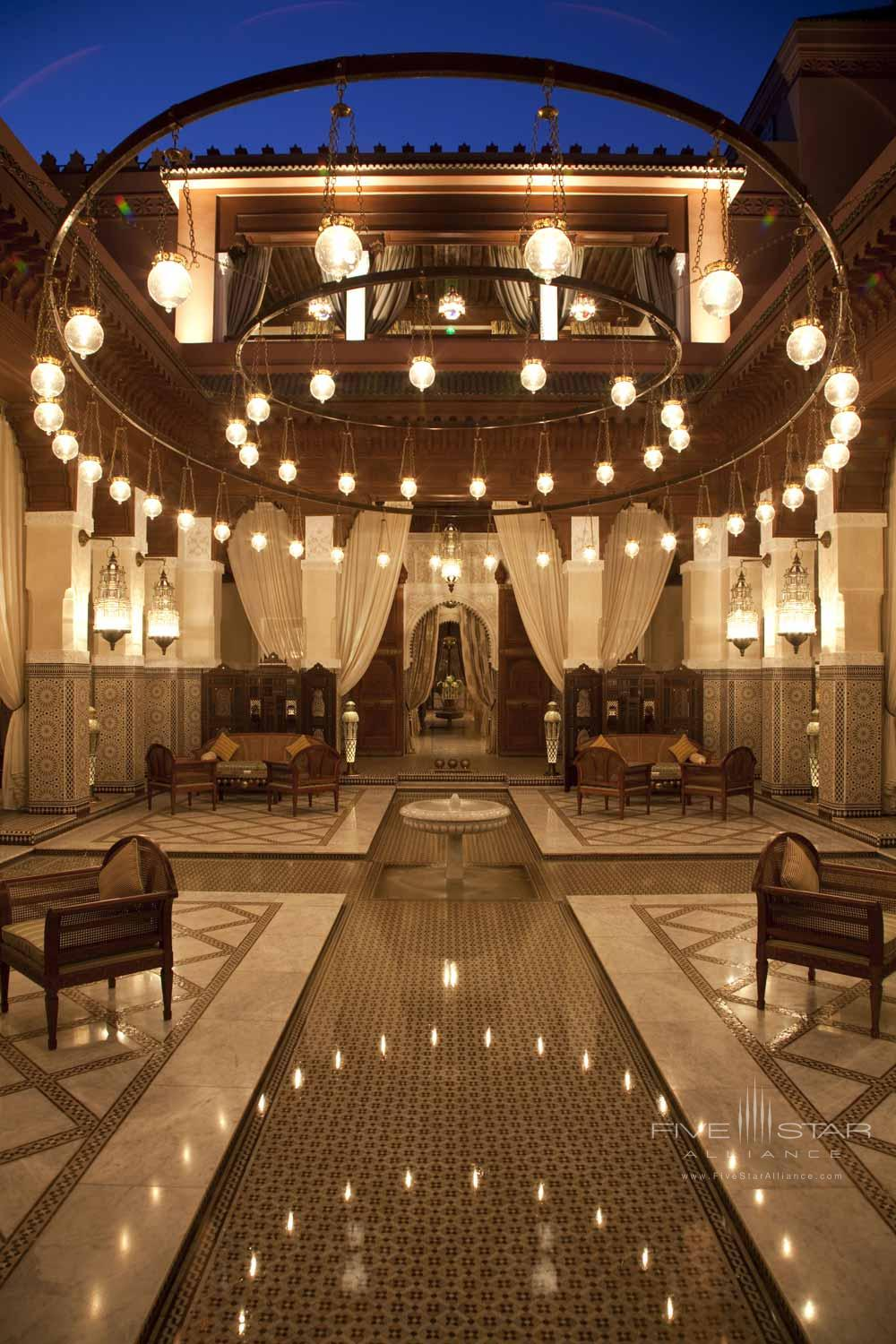 Lobby of Royal Mansour Marrakech, Morocco
