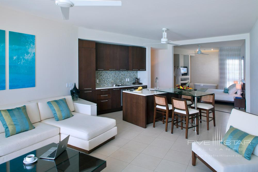 Luxury One Bedroom Suite Dining and Living at Gansevoort Turks and CaicosProvidencialesTurks & Caicos Islands