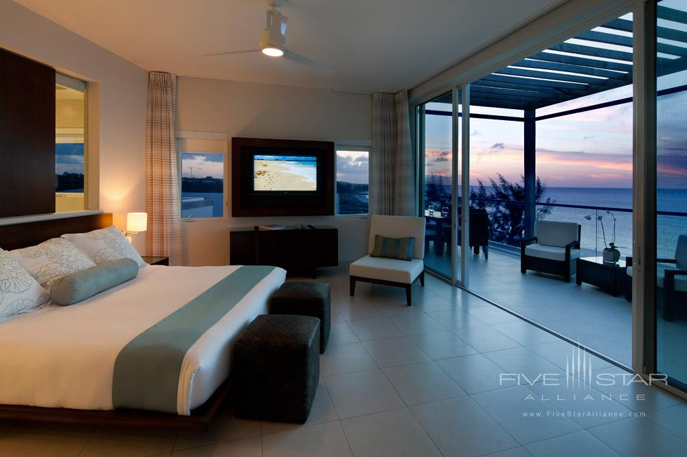 Penthouse Master Room with Floor to Ceiling Sliding Glass Doors that Open on to a Private Terrace