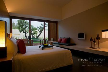 Guest room at Anantara Chiang Mai Resort & Spa, formerly the Chedi Chiang Mai Hotel and Resort