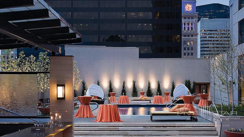 Rooftop pool of the Four Seasons Hotel in DenverCO