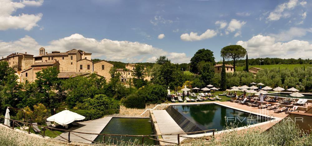 Outdoor pool at Castel Monastero in SienaItaly