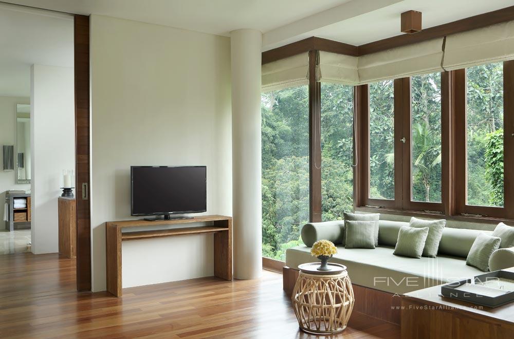 Living Room in the Tree Villa at Alila Ubud