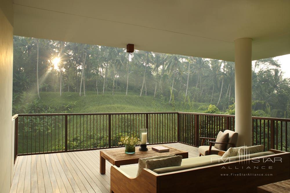Tree Villa Terrace View at Alila Ubud