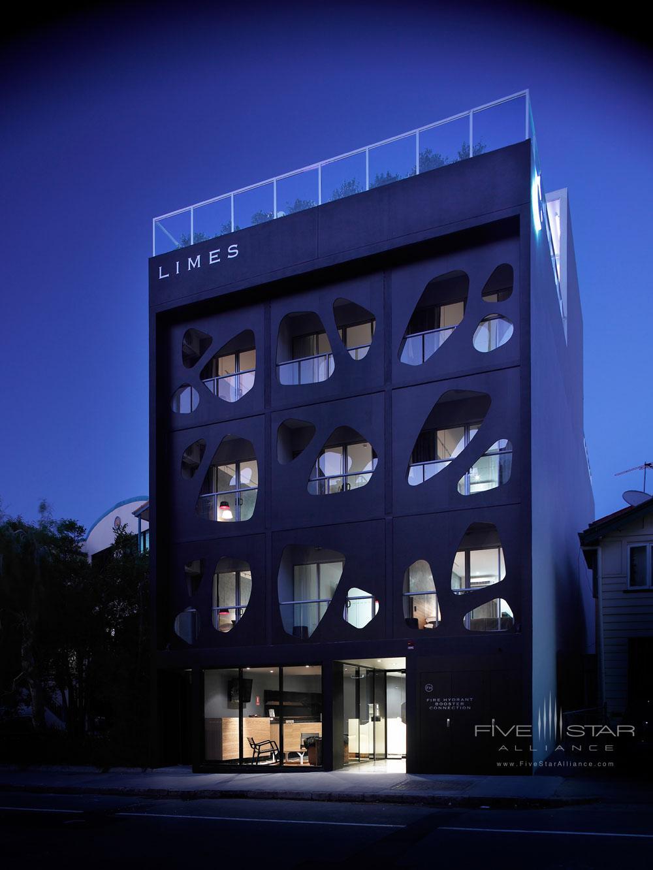 Exterior of Limes Hotel BrisbaneAustralia