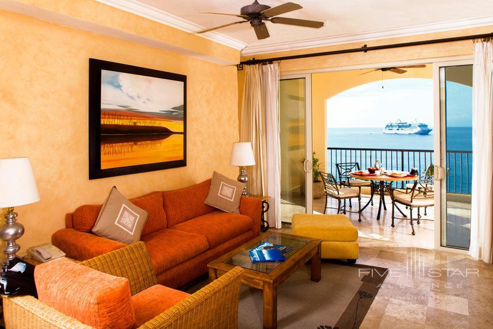 One Bedroom Suite Living Area at Villa Del Arco Beach Resort And Grand SpaCabo San Lucas