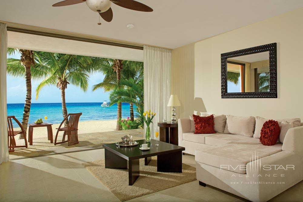 Swim Up Suite Lounge at Aura Cozumel Grand Resort