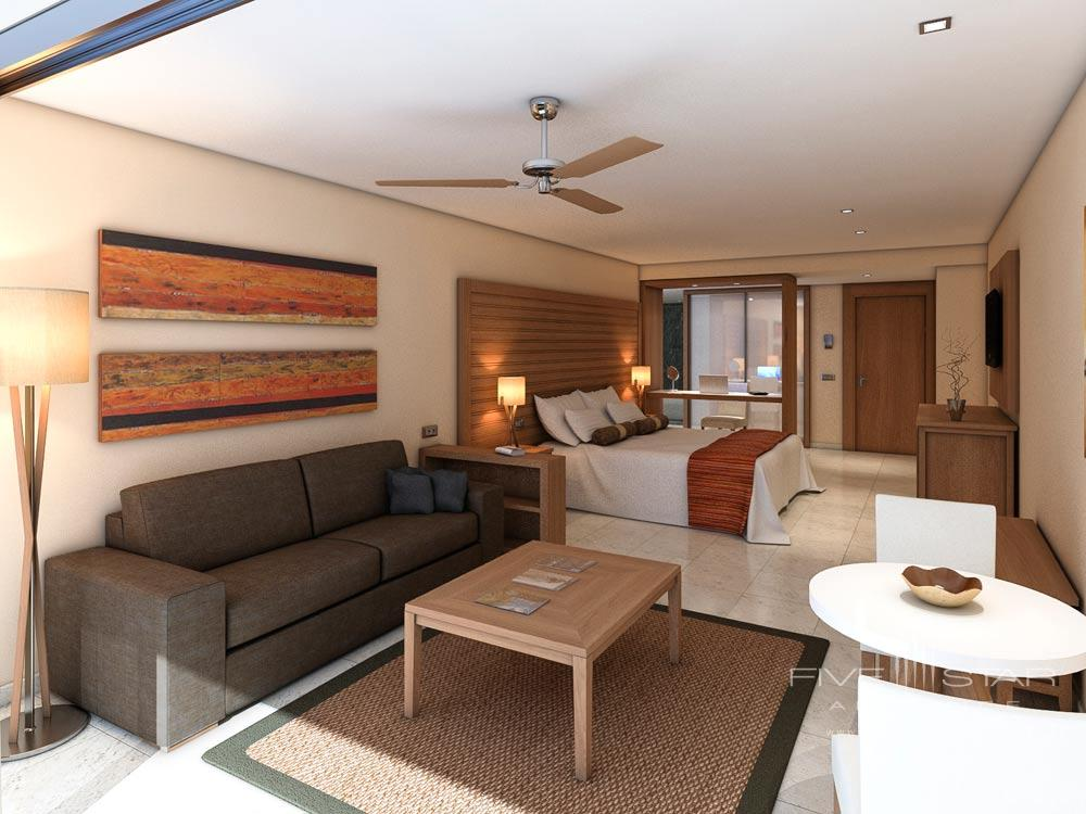 Junior Suite Lounge Area with Ocean View at Aura Cozumel Grand Resort