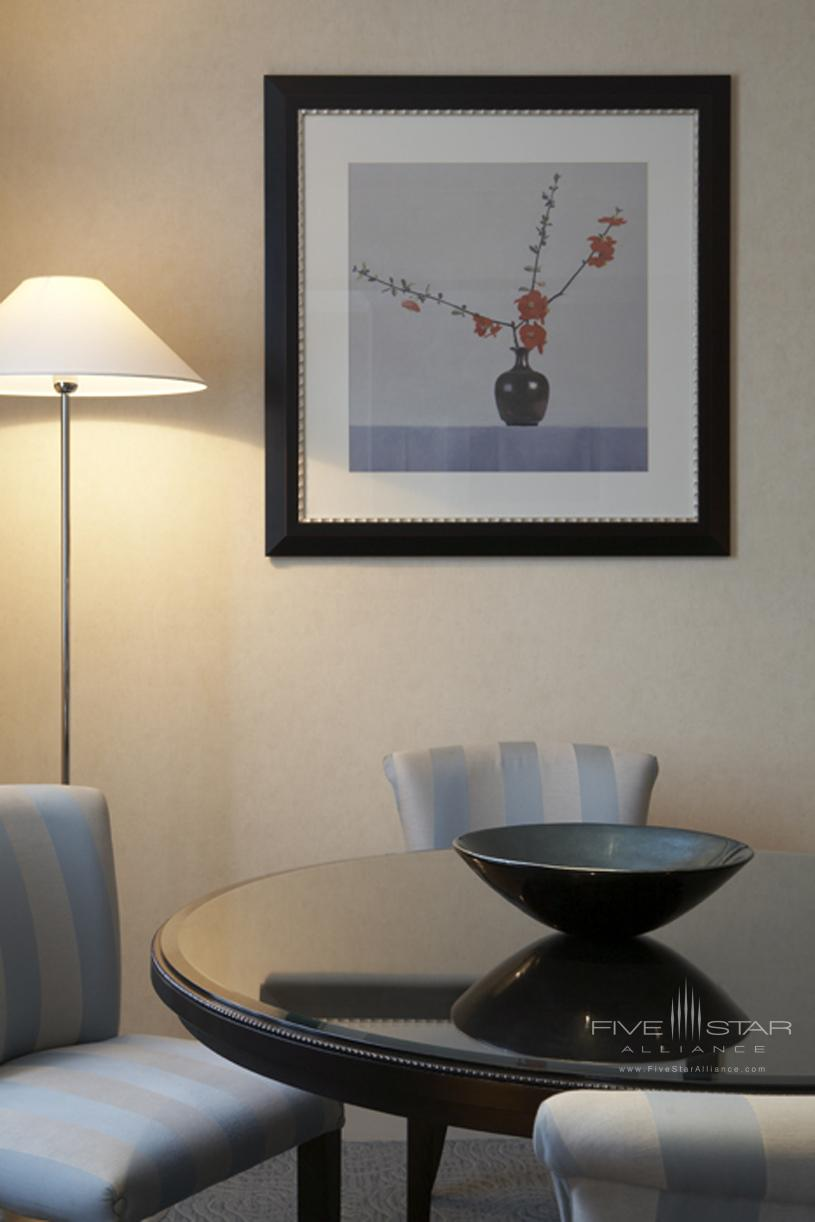 The Westbury London Deluxe Suite Dining Area