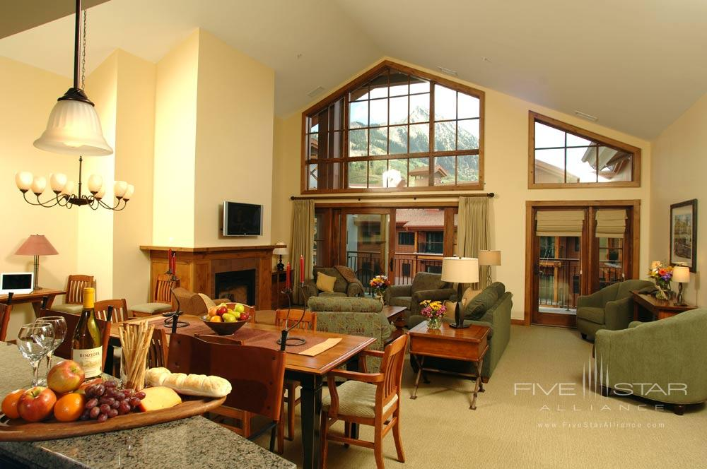 Suite Living Area at The Lodge At Mountaineer Square